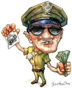 polisi dan uang